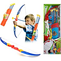 Amitasha Bow and Arrow Archery Toy Target Game Set for Kids (Quiver Included)
