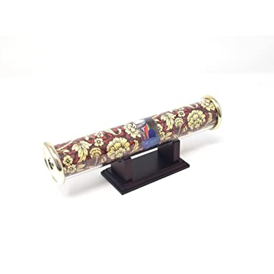 Findlavender Kaleidoscope with Base - Great Decoration for The Office of Home (Burgundy Paper): Toys & Games