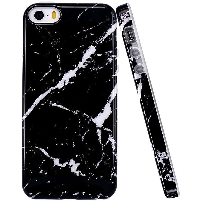 Jaholan - Carcasa para iPhone 5 y 5S, diseño de mármol, a ...