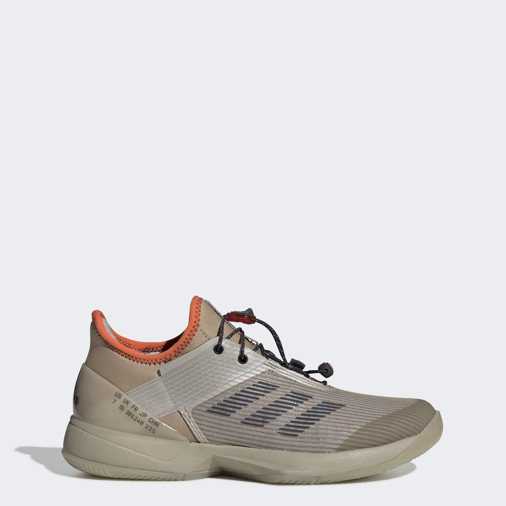 adidas Women's Adizero Ubersonic 3 Citified, Light Brown/Grey/True Orange, 10 M US by adidas