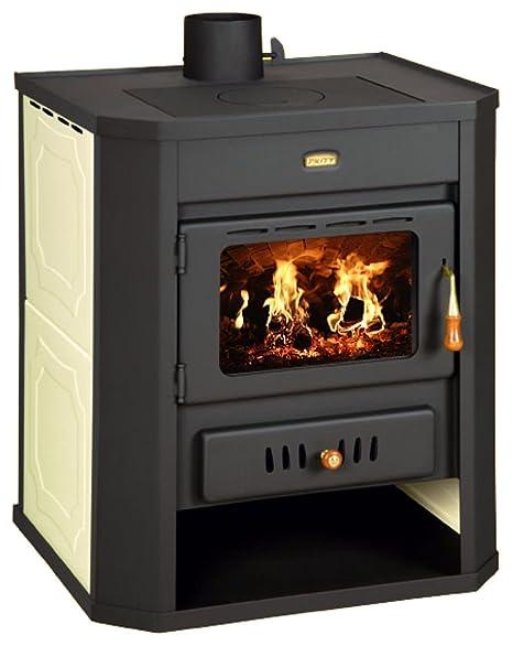 Estufa de leña caldera Multi combustible chimenea Prity WD W15