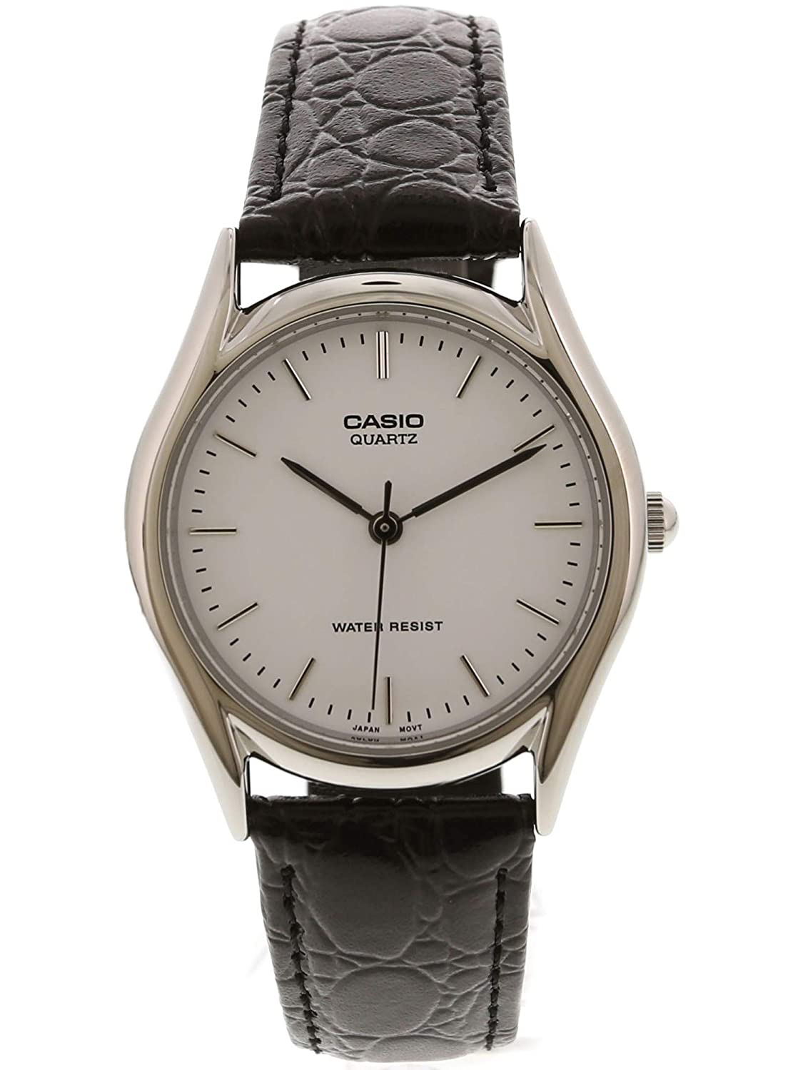a28ed42d50f9 MTP1094E-7A 3-Hand Analog Water Resistant Genuine Leather Band  Casio   Amazon.ca  Watches