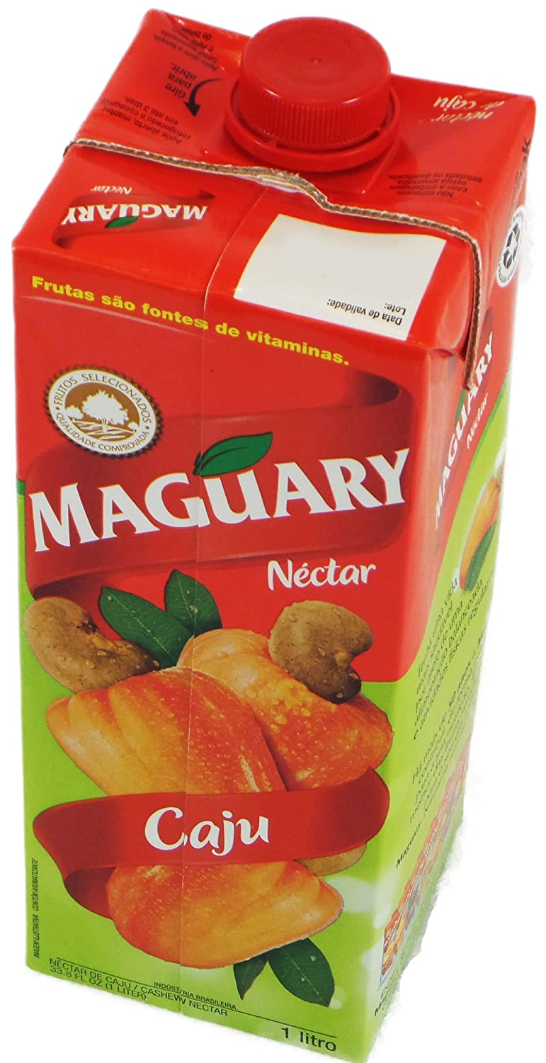 Amazon.com : Maguary Cashew Juice - 33.8 FL.Oz | Suco Maguary Sabor Caju - 1L - (PACK OF 01) : Fruit Juices : Grocery & Gourmet Food