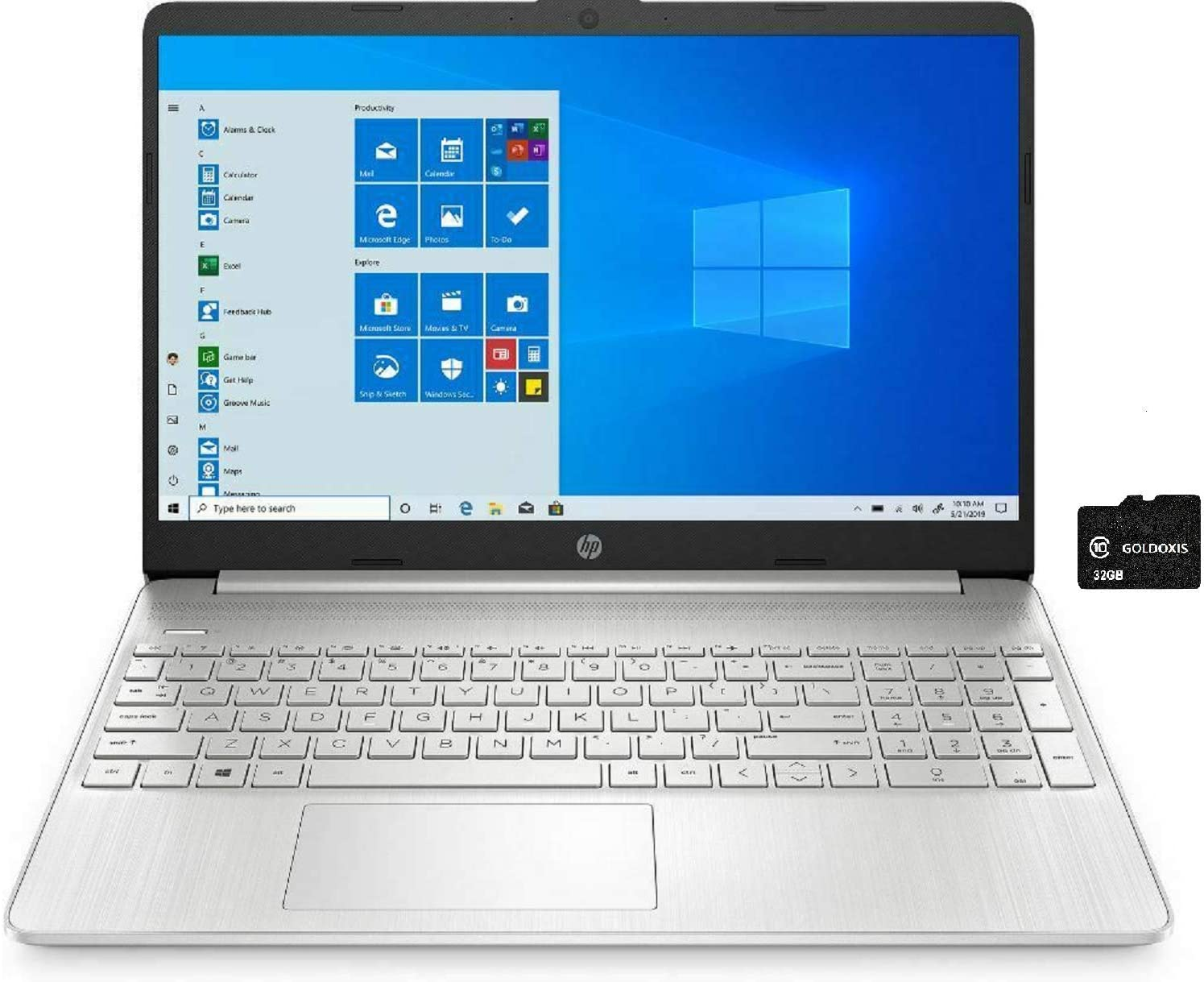 2021 HP 15.6 inch FHD IPS Touchscreen Intel Core i7-1065G7 1.30 GHz up to 3.90 GHz 12GB DDR4 2666 MHz 512GB SSD Windows 10 Home, 64-bit with GOLDOXIS Card