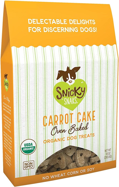 Snicky Snaks Usda Certified Organic Carrot Cake Oven Baked Treat, 10 Oz, 1 Piece, Small