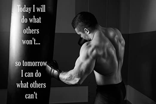QUOTE PHOTO PRINT GIFT MOTIVATION MOTIVATIONAL BODYBUILDING POSTER 4