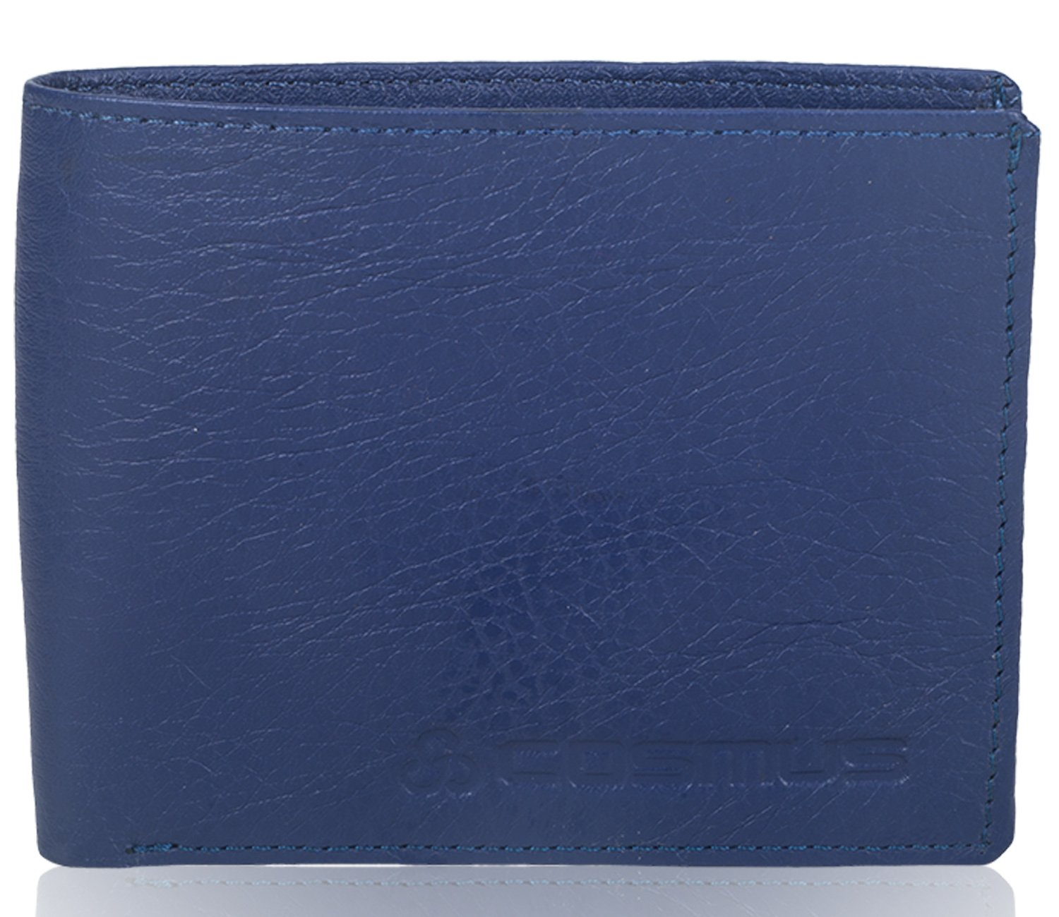 25b2a65ad2b9 Gents Wallet - Leather Wallet for Men - Cosmus 100% Original Genuine  Leather Wallet - LW-0009 - Blue  Amazon.in  Bags