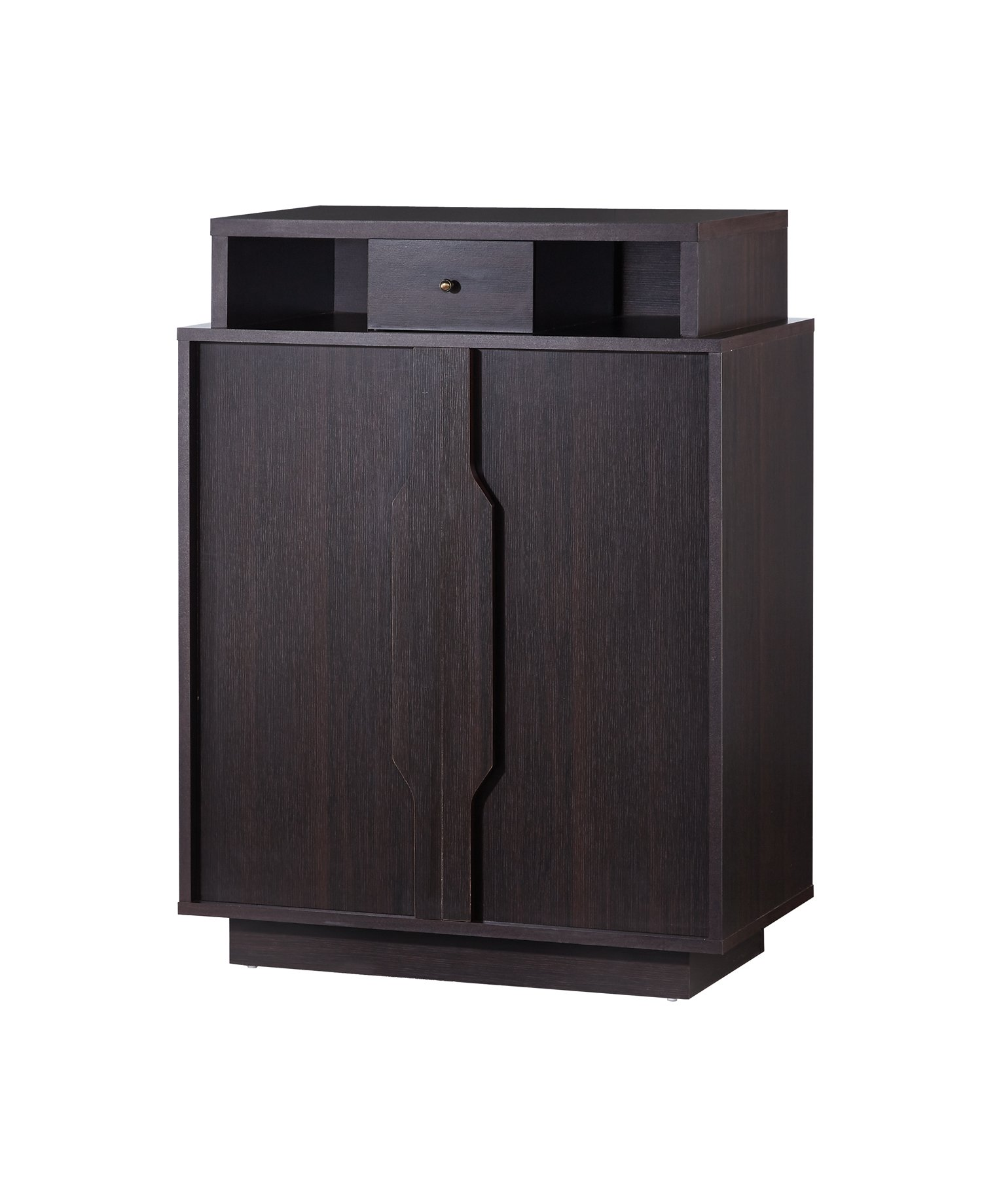 ioHOMES Marnie Modern Shoe Cabinet, Espresso by HOMES: Inside + Out