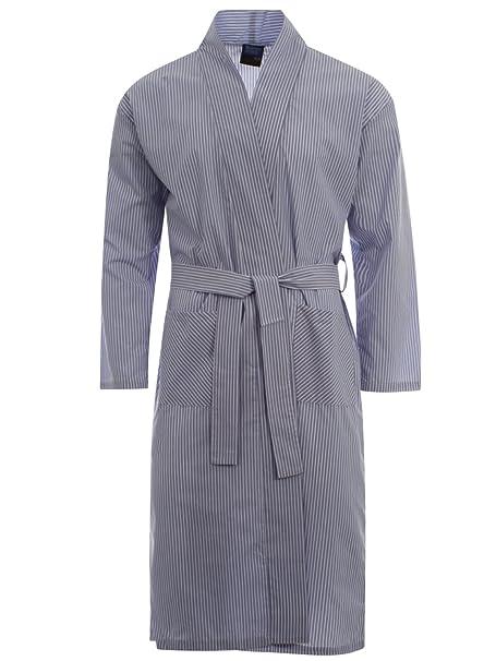 Champion Men/'s Regal Checked Polycotton Bath Robe Dressing Gown Wrap Kimono