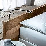 """SO-TECH® Lampe liseuse flexible """"Luminoso"""" LED Lampe de chevet DEL Lampe pour lire LED Lampe de lecture noir incl. Alimentation électrique"""