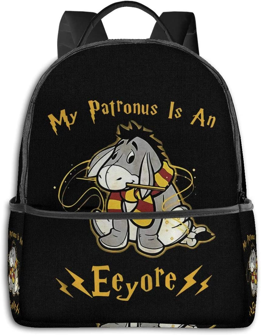 Backpack My Patronus is an Eeyore Laptop Backpack Fashion Theme School Backpack