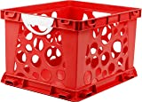 Storex Premium File Crate with Handles, 17.25 x