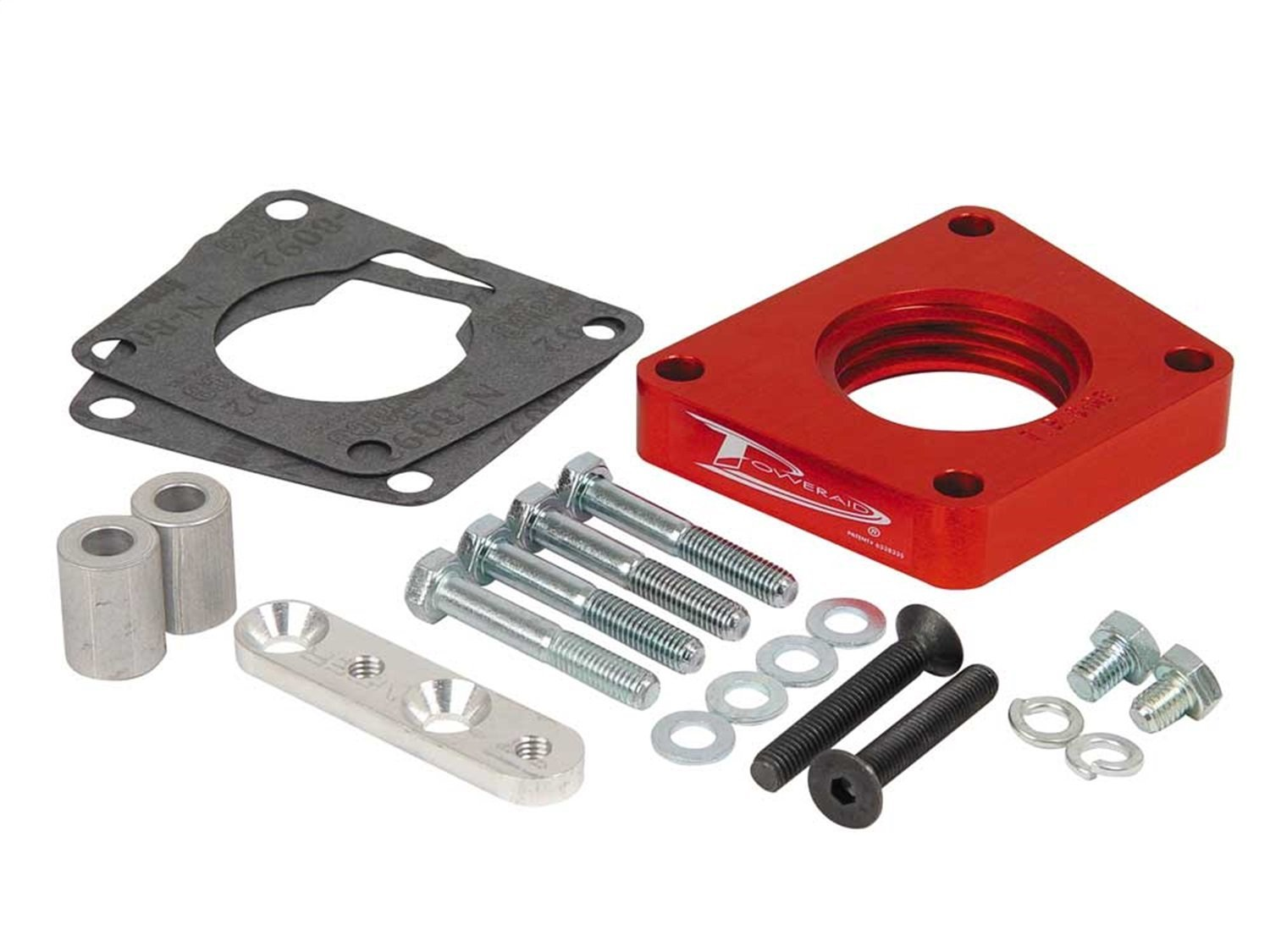 Airaid 400-587 PowerAid Red Anodized Aluminum Throttle Body Spacer AIR-400-587