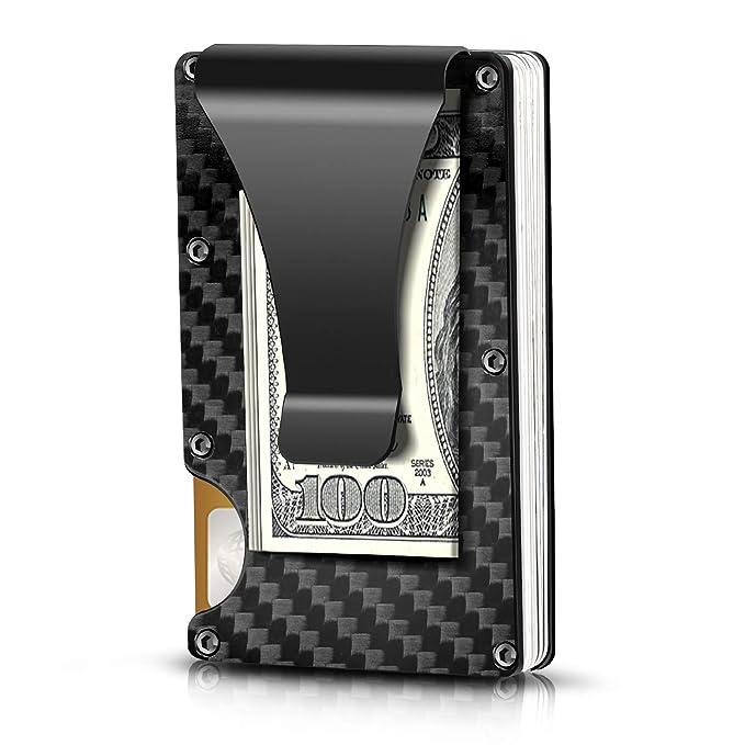 Carbon Fiber Wallet,Slim Wallet & RFID Blocking Front Pocket Wallet for Ascending a Hill Ridge, Minimalist Wallet for Men And Women best men's travel accessories