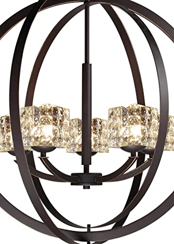 Woodbridge Lighting 14325MEBLE-C80414 Chandelier, Mercury Crystal Square