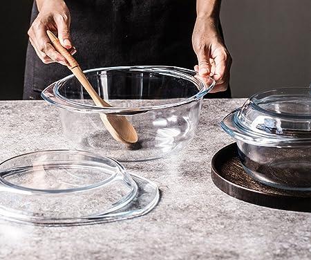 SX-ZZJ Cuencos de Sopa Tazón de Fuente de Cristal Transparente ...