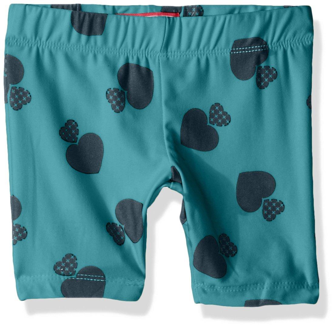Dream Star Girls' Little Peached Bike Shorts, Aqua Small/4