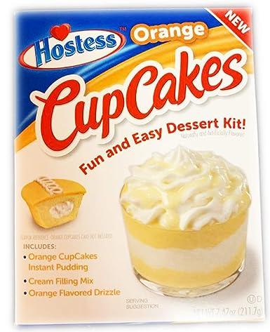 Amazon.com : Hostess Orange Cupcake Pudding Dessert Kit 7.47 oz ...