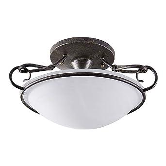 Lampenwelt Deckenlampe Rando Dimmbar Landhaus Vintage
