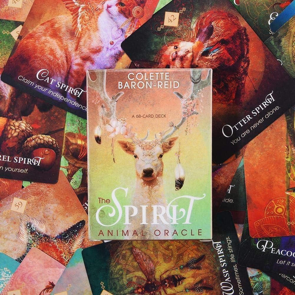 Liebe Kommunikation Spirit Animal Oracle: 68 Das Orakel der Krafttiere Magische Karten mit Anleitungsbuch Karten Tarotkarten Kartenspiele Karten f/ür Lebensziele Gesundheit Beziehungen Neuanf/änge