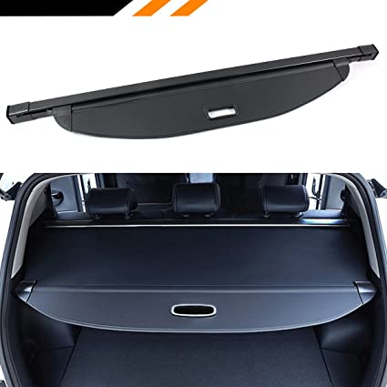 Cuztom Tuning Fits For 2016 2018 Hyundai Santa Fe Sport Rear Tailgate Space Retractable Cargo Cover Luggage Shield Shade Black