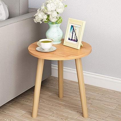 Amazon.com: HOIHO Mesa auxiliar de madera para sofá, mesa ...