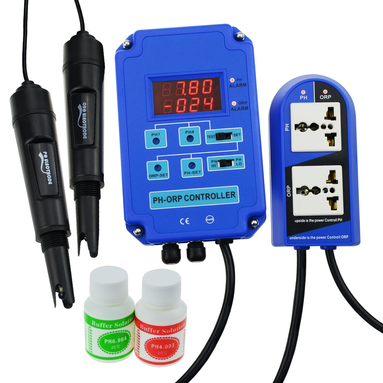 Digital pH ORP 2 in 1 Controller with Separate Relays for pH and ORP by Gain Express