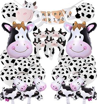 JOYMEMO Vaca Decoraciones para Fiestas, Tema de Animales de ...