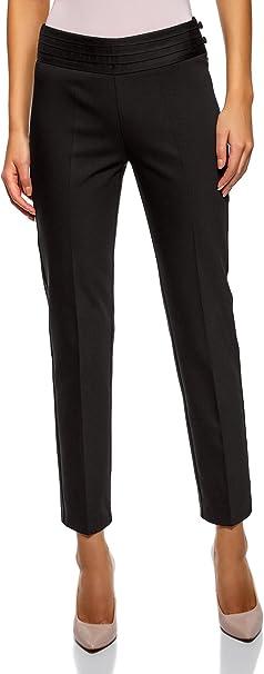 oodji Collection Donna Pantaloni Stretti con Zip Laterale