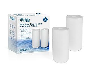 Fette Filter - Heavy Duty Sediment Filter Cartridge Compatible with Pentek DGD-5005. Pack of 2