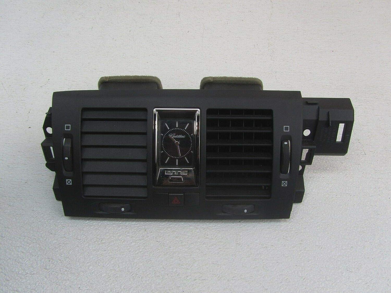 Morad Parts 06 Fits Cadillac DTS Black Center Vent Dash Bezel Trim Panel w/Analog Clock