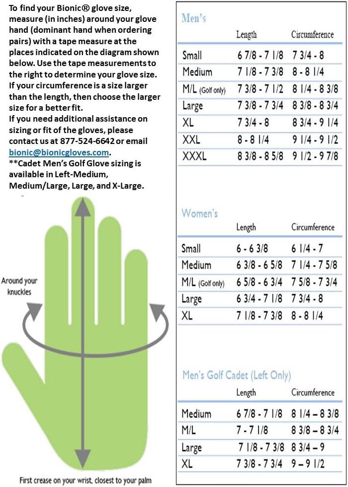 Bionic Men s ReliefGrip Golf Glove