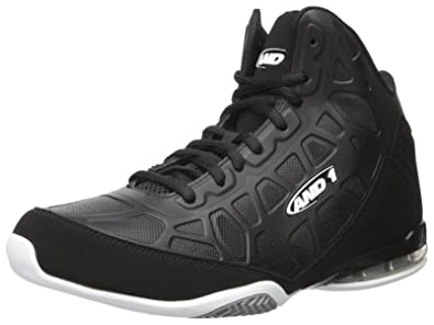 AND1 and 1 Men's Master 3-M Basketball Shoe, Black/White, 9