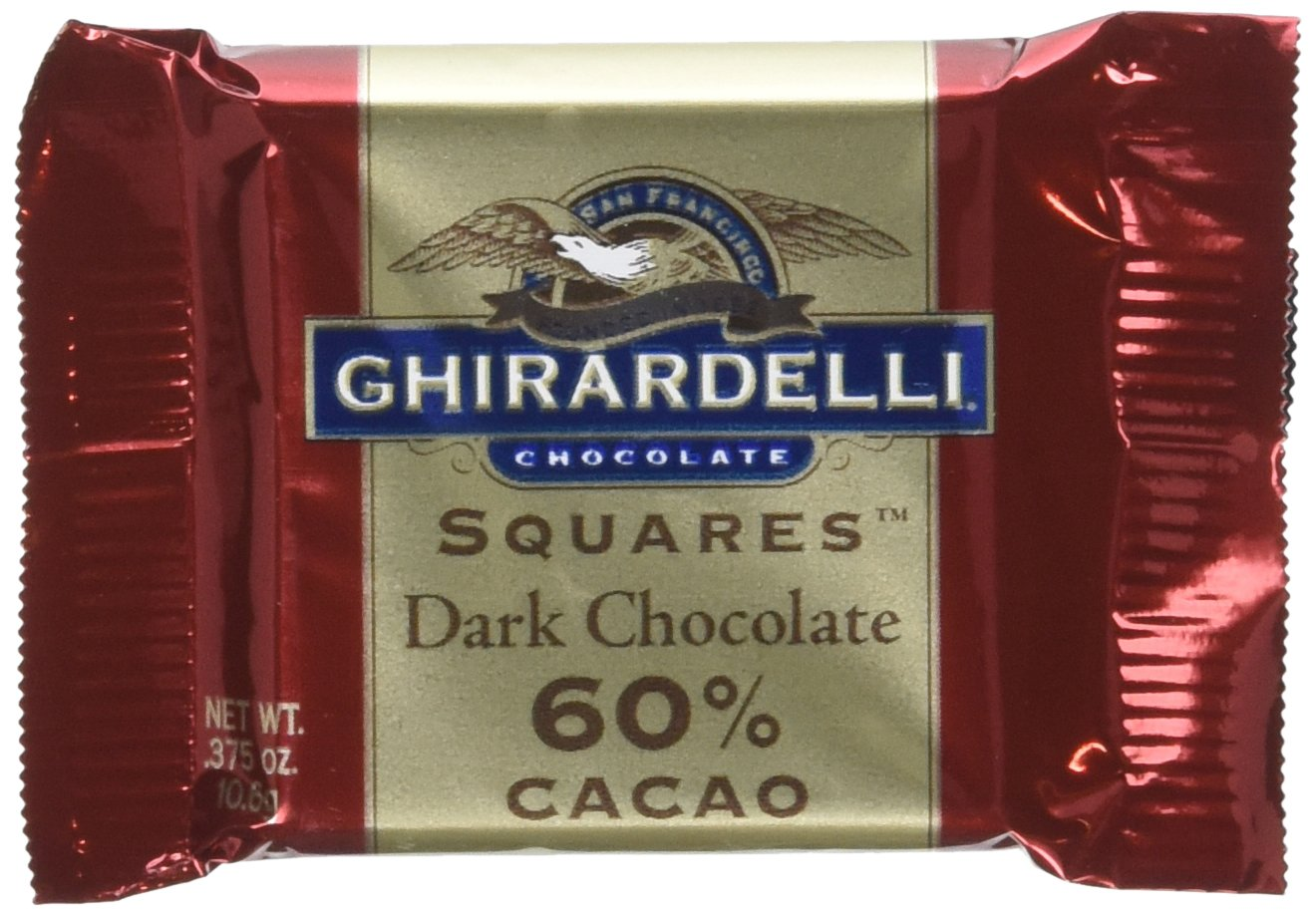 Ghirardelli Chocolate Squares, 60% Cacao Dark Chocolate, 0.375-Ounce Squares (Pack of 540)