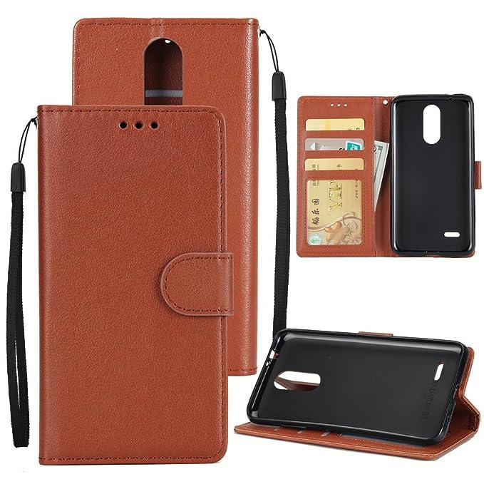 7 opinioni per MOONESS Custodia LG K4 2017 Wallet Cover Retro Portafoglio con Cinturino da