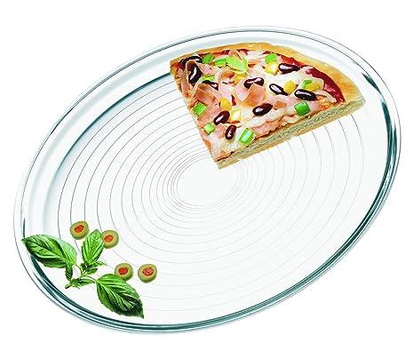 Amazon.com: Simax Cristalería 6826 Pizza Plato de hornear ...