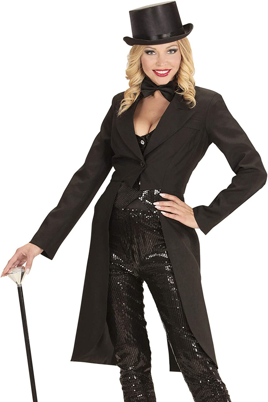 WIDMANN- Disfraz de Frack para Mujer, Talla XL, Color Negro, Extra ...