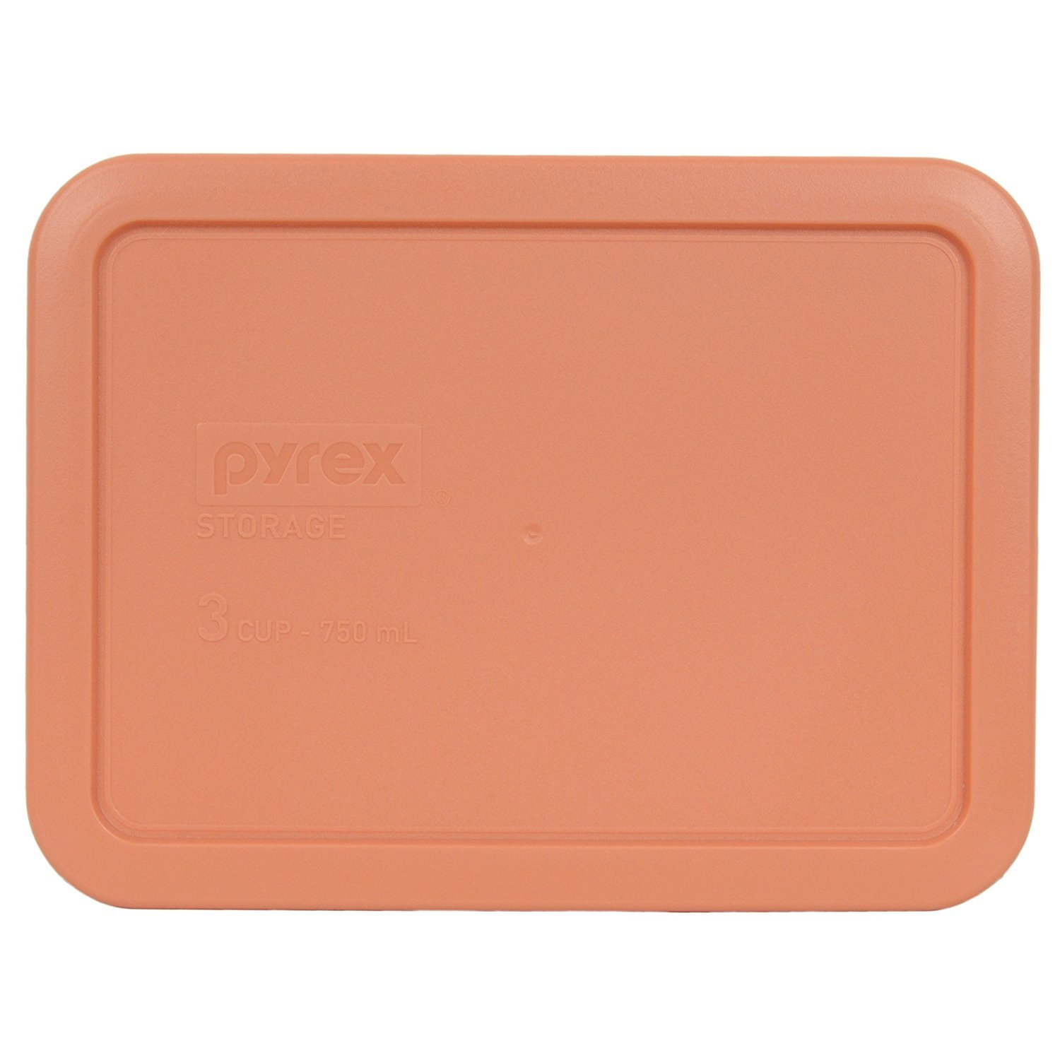 Pyrex 7210-PC 3 Cup Rectangle Storage Lid Cover for 3 Cup Dish (1, Light Orange) by Pyrex