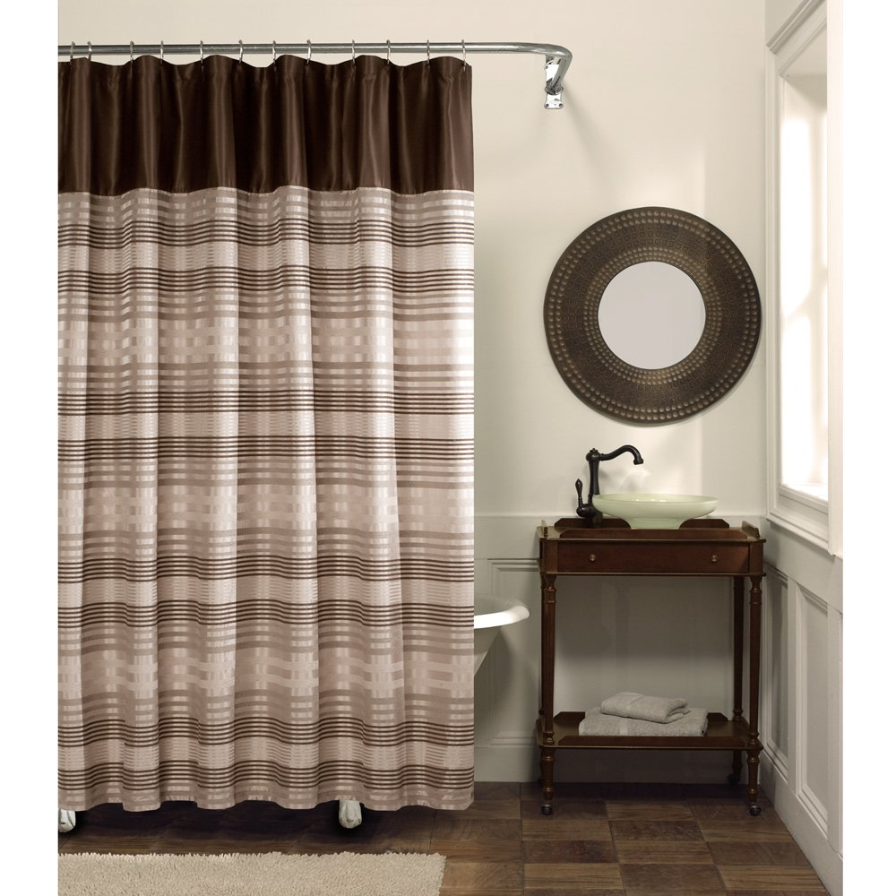 Brown Fabric Shower Curtains. Gossamer-Leaf-Fabric-Shower-Curtain ...