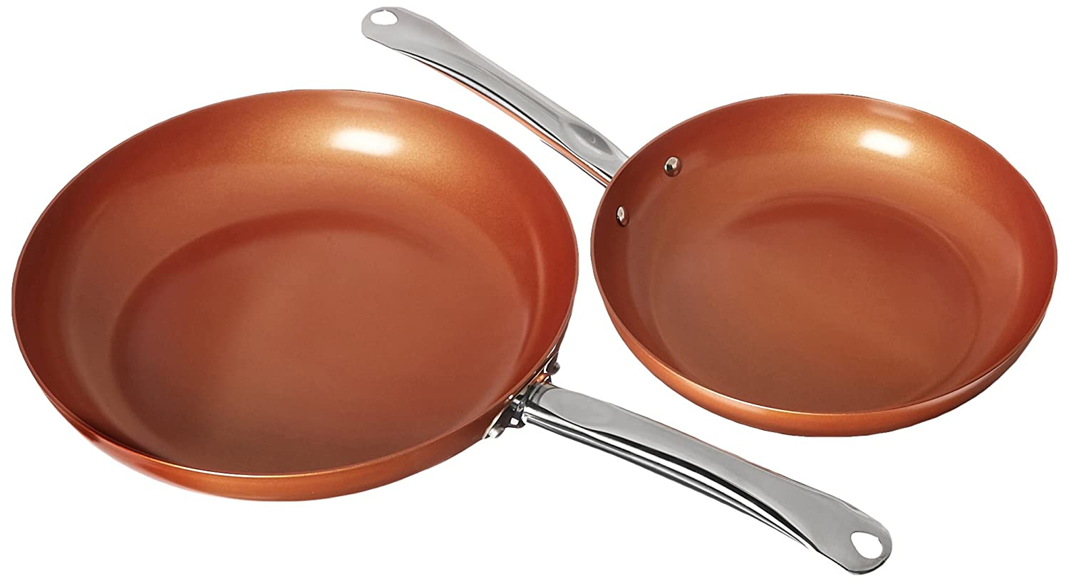Copper Chef Round Pan- 10 and 12 Inch 2 Pack Tristar Products Inc. 10 &12 inch