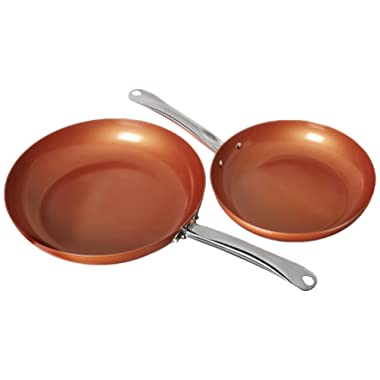 Copper Chef Round Pan- 10 and 12 Inch 2 Pack