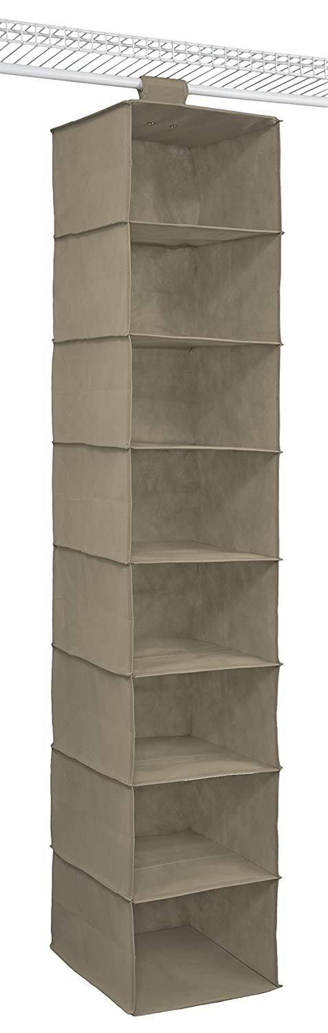 ClosetMaid 31464 10-Shelf Hanging Closet Organizer, Gray