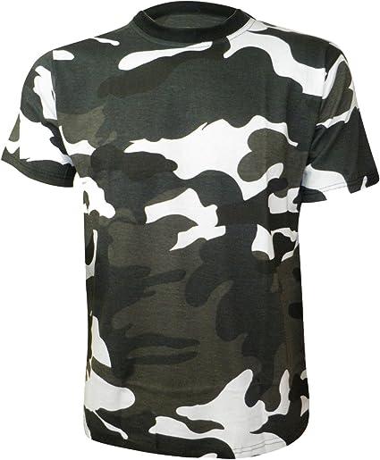 TMK Hombre Camiseta Camuflaje Manga Corta Verde y Negro Blanco (small-5xl): Amazon.es: Ropa y accesorios