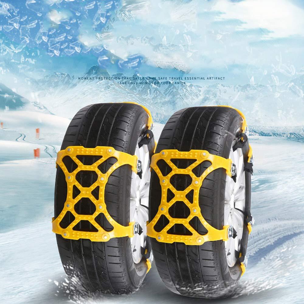 Festnight Universal Emergency Car Wheel Tire Snow Chain TPU Anti Skid Strap Vehicle Off-Road Safe Tire Wheel Chain