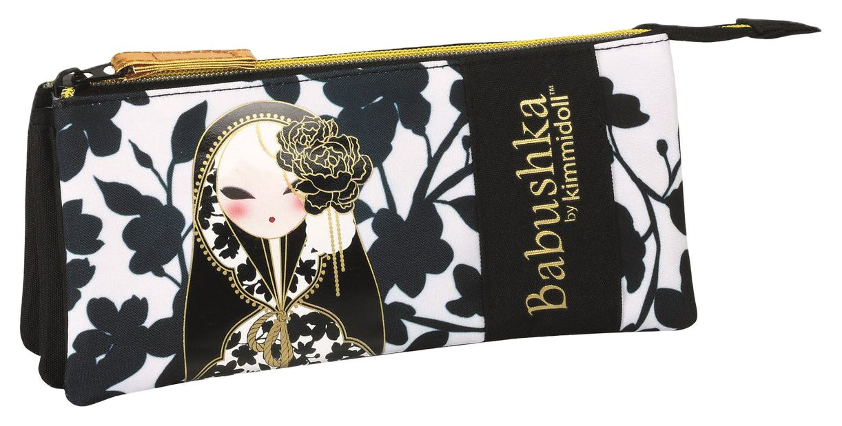 Babushka By Kimmidoll Babushka Estuche portatodo Triple Color Negro/Blanco 22 cm SAFTA 811633744