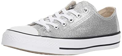 2343cb6310293 Converse Chuck Taylor All Star Synthetic OX Sneaker Damen Silbern - 36 -  Sneaker Low