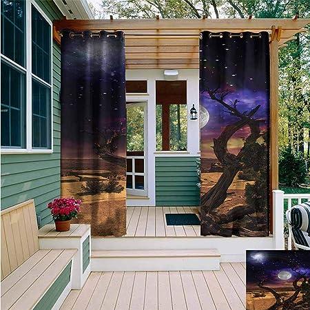 Amazon.com: Beihai1Sun - Cortinas con ojales para exteriores ...