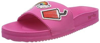 flip flop Damen Poolpatch Summer Offene Sandalen, Pink (Very Pink), 39 EU