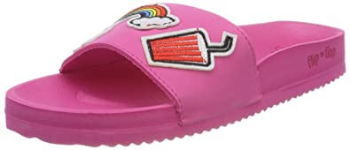 flip flop Damen Poolpatch Summer Offene Sandalen, Pink (Very Pink), 41 EU