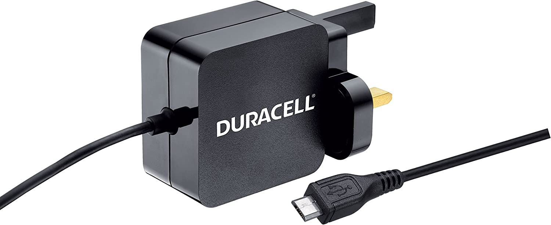 Duracell DMAC10-UK - Cargador (Interior, Corriente alterna, 5 V, 2,4 A, 1 m, Negro)
